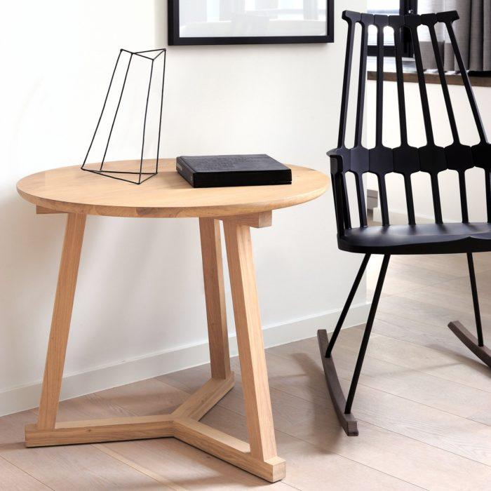 50508 Oak Tripod side table