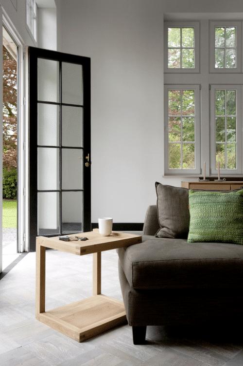 50517 Oak Frame sofa side table