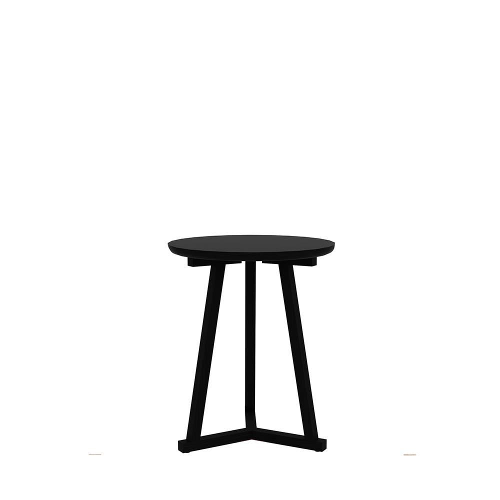 50527 Oak Tripod side table blackstone 46x46x56 f