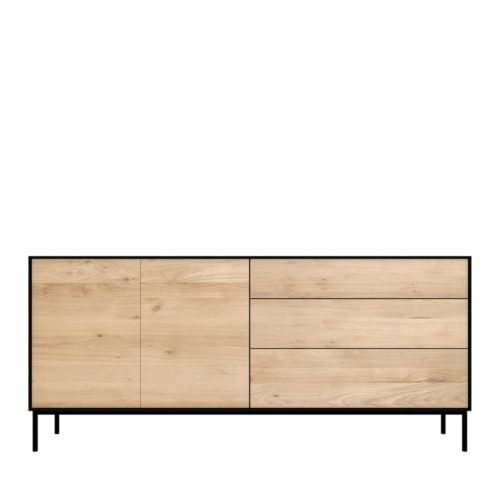 51471 Oak Blackbird sideboard 2 opening doors 3 drawers 1