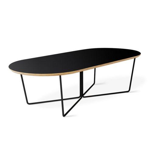 Array Coffee Table Oval Black P01
