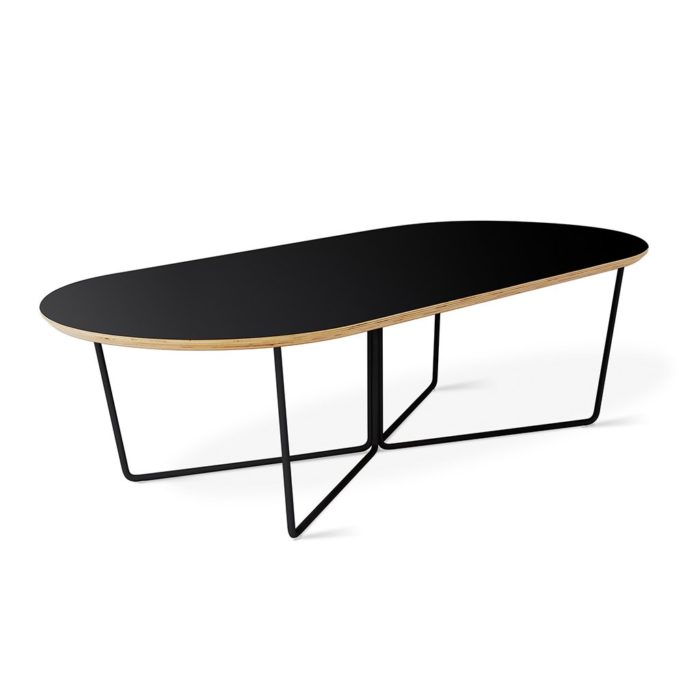 Array Coffee Table Oval Black P01