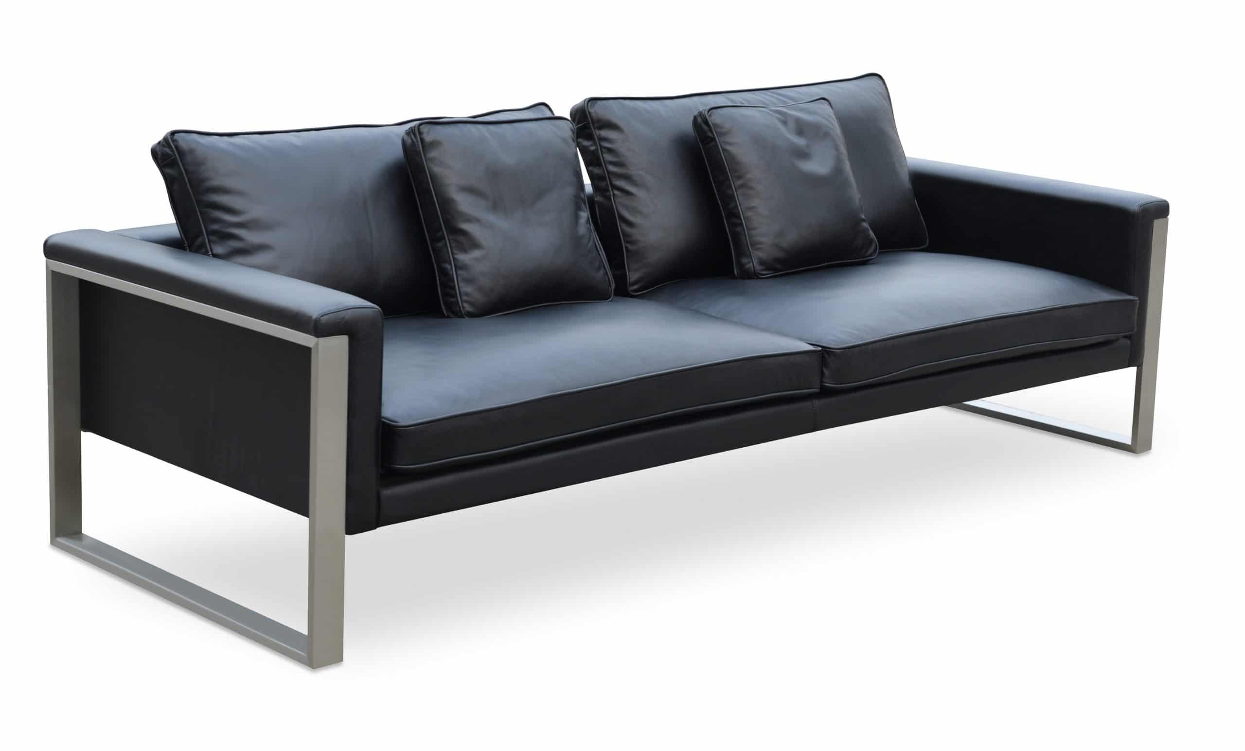 Boston Sofa Black Leather