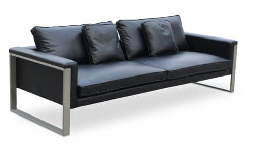 BOSTON SOFA BLACK LEATHER
