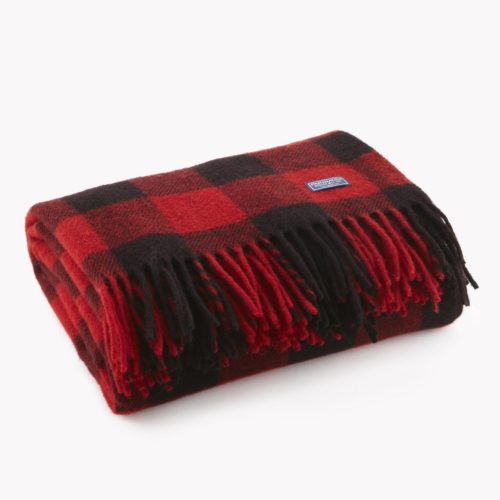 Buffalo Check Throw Black Red