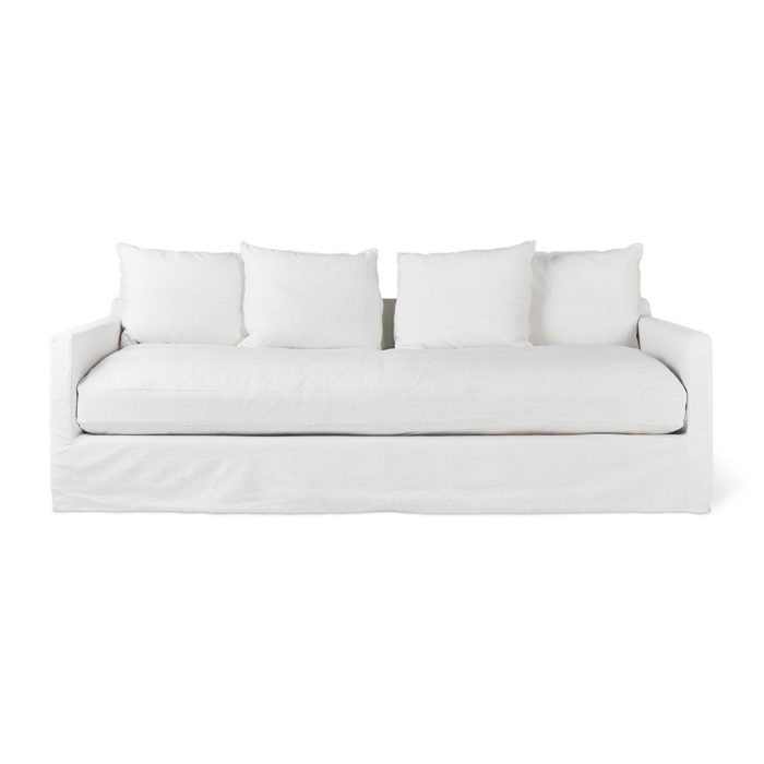 Carmel Sofa Washed Denim White P01