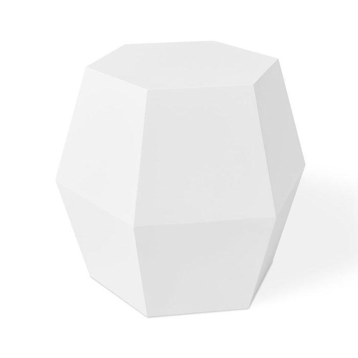 Facet 14 End Table   White   P01 1024x1024