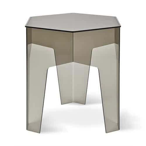 Hive End Table Acrylic Smoke