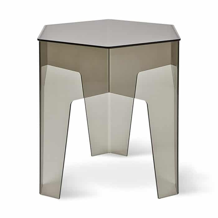 Hive End Table Acrylic Smoke