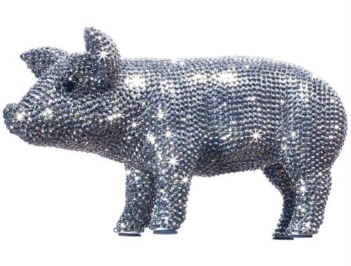 Sparkling Pig Decoration