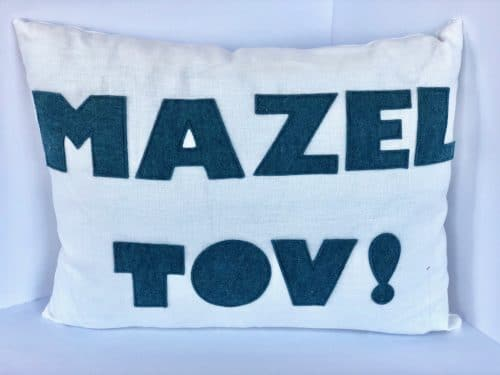 Mazel TOV Pillow