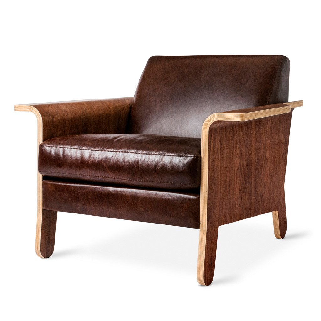 Lodge Chair Chestnut BrownLeather