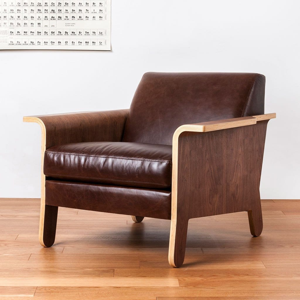 Lodge Chair Chestnut BrownLeather1