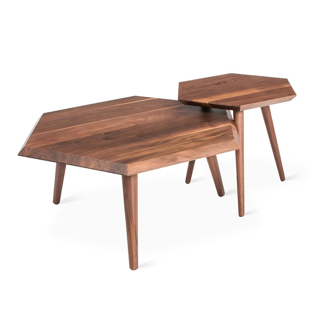 Metric Coffee Table End Table Walnut  1