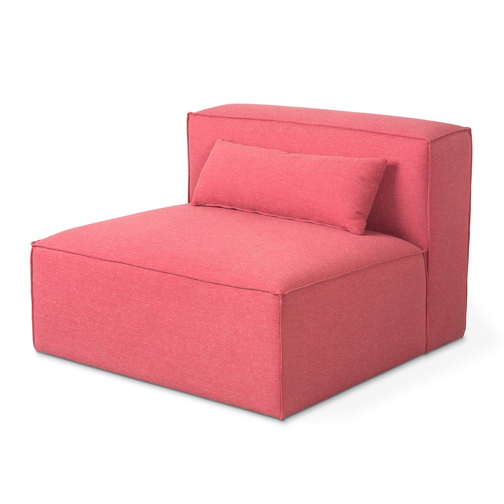 Mix Modular Armless Chair Berkeley Coral P01 12