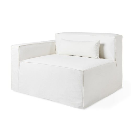 Mix Modular Slipcover Arm Left Washed Denim White P01 5