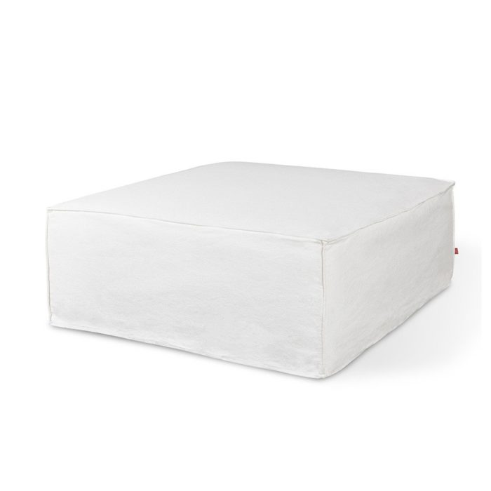 Mix Modular Slipcover Ottoman Washed Denim White P01 1