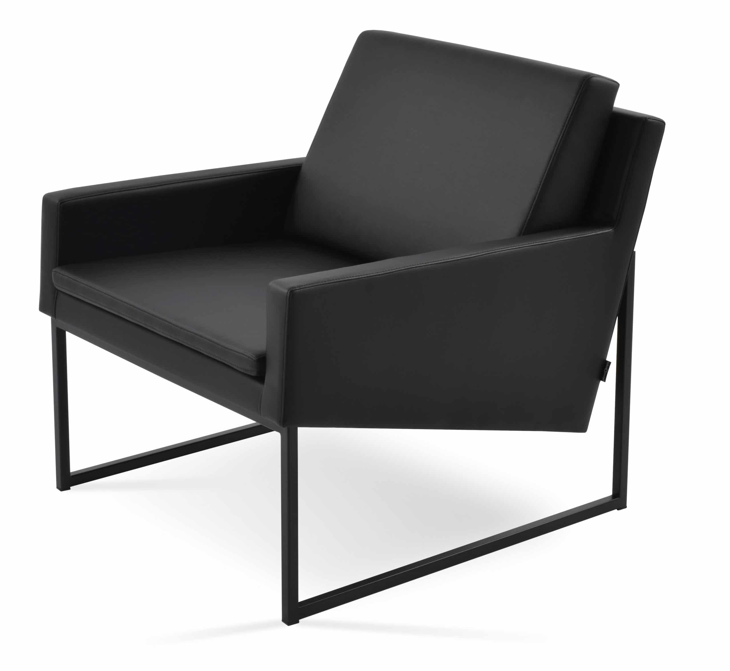 NOVA ARMCHAIR BLACK POWDER COATED BLACK F.SOFT METL BASE DIYELIMMI 1