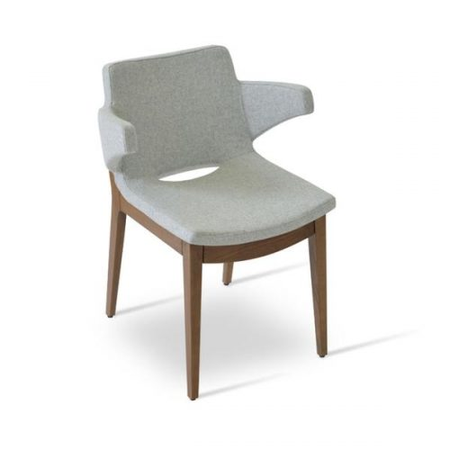 Nevada Arm Wood Dining Chair 01 600x