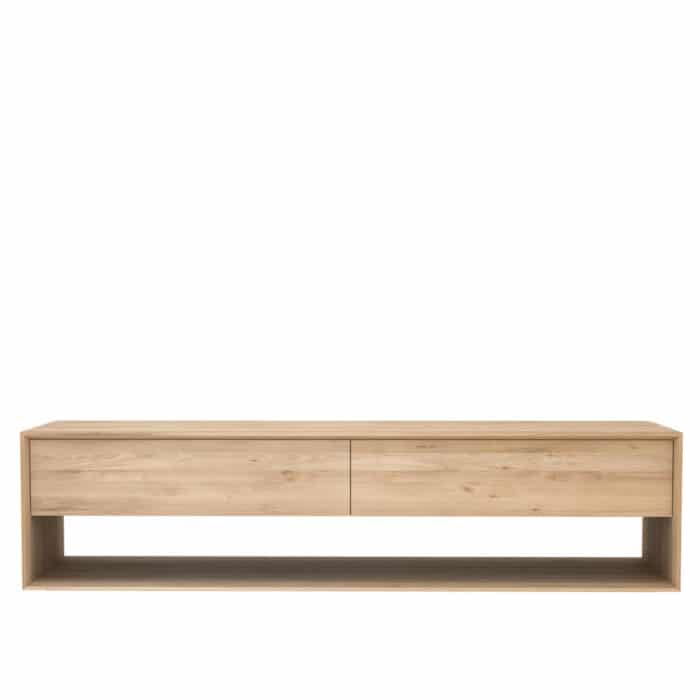 Oak Nordic TV cupboard 180cm