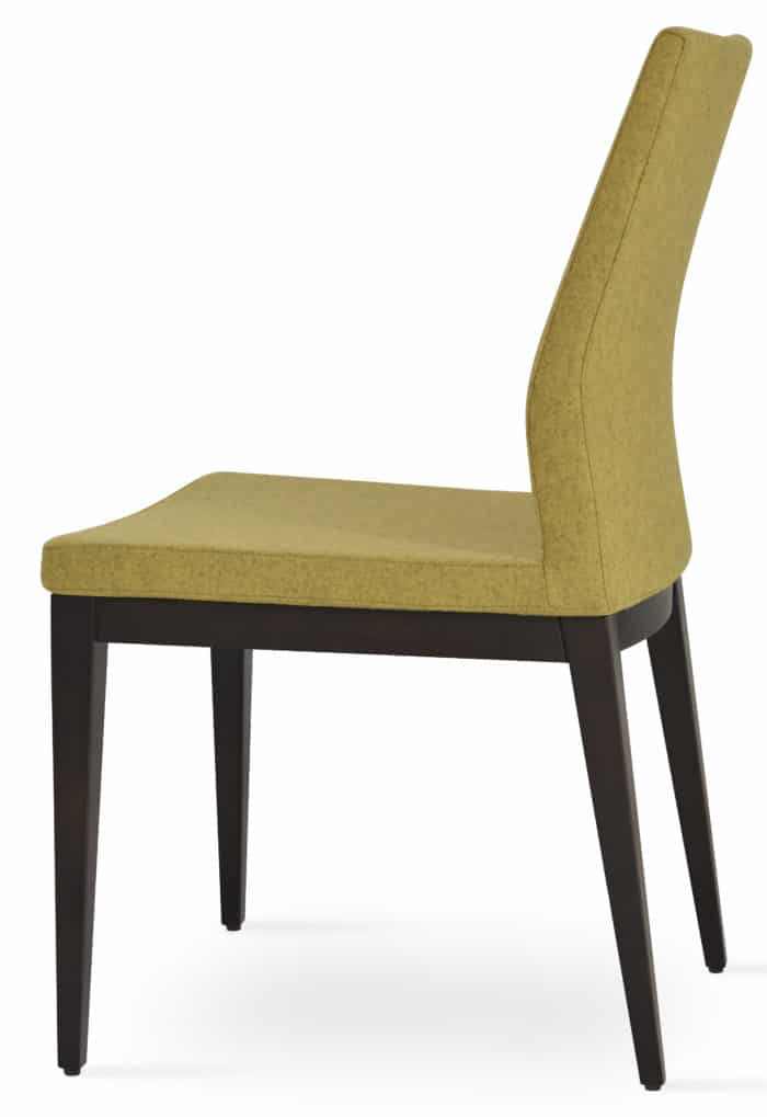 PASHA DINING WOOD BEECH WENGE FINISH CAMIRA WOOL AMBER 2