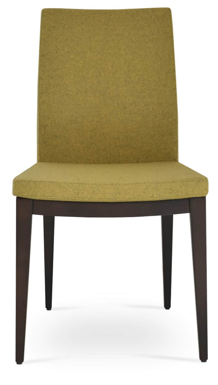 PASHA DINING WOOD BEECH WENGE FINISH CAMIRA WOOL AMBER 3