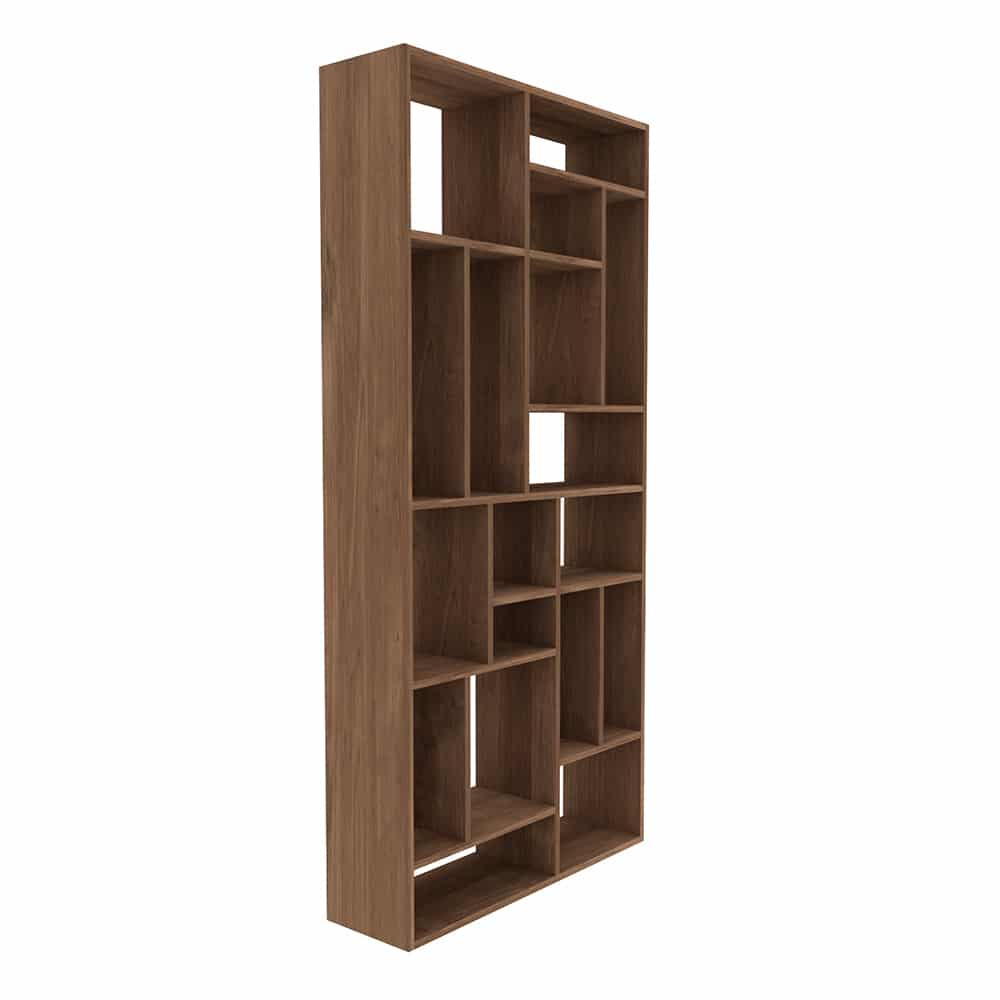 TGE 014201 Teak M rack open 104x30x219 p