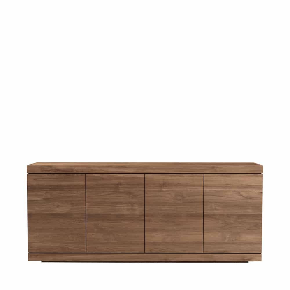 TGE 015322 Teak Burger sideboard 4 doors 200x45x85 f 1