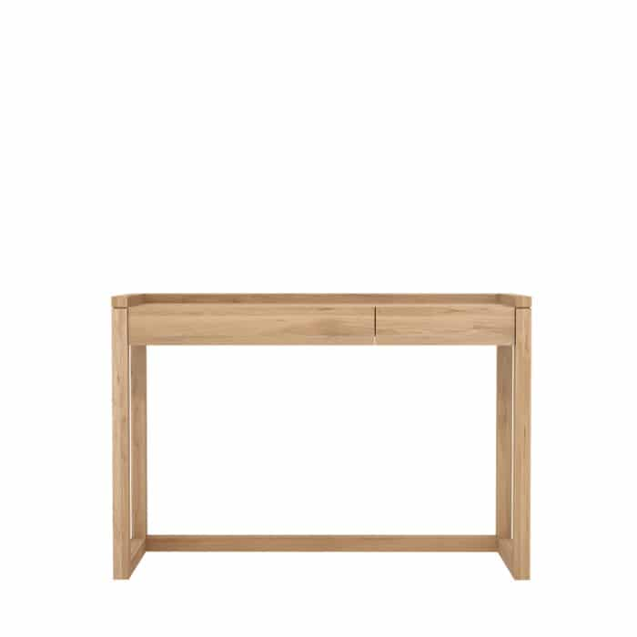 TGE 050516 Oak Frame PC console 2 drawers 120x43x815 f