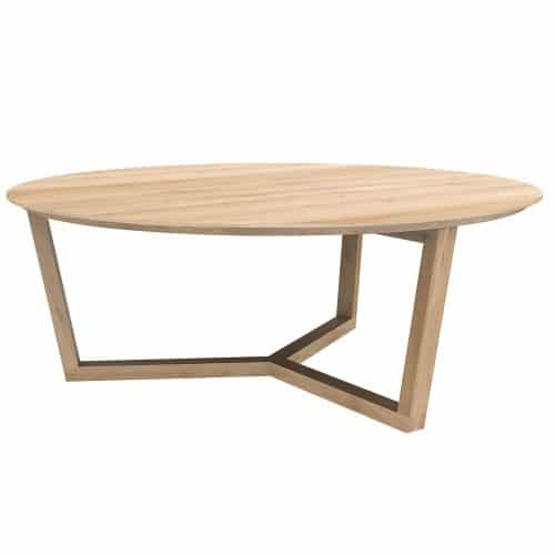 TGE 050530 Oak Tripod coffee table 96x96x36 p high