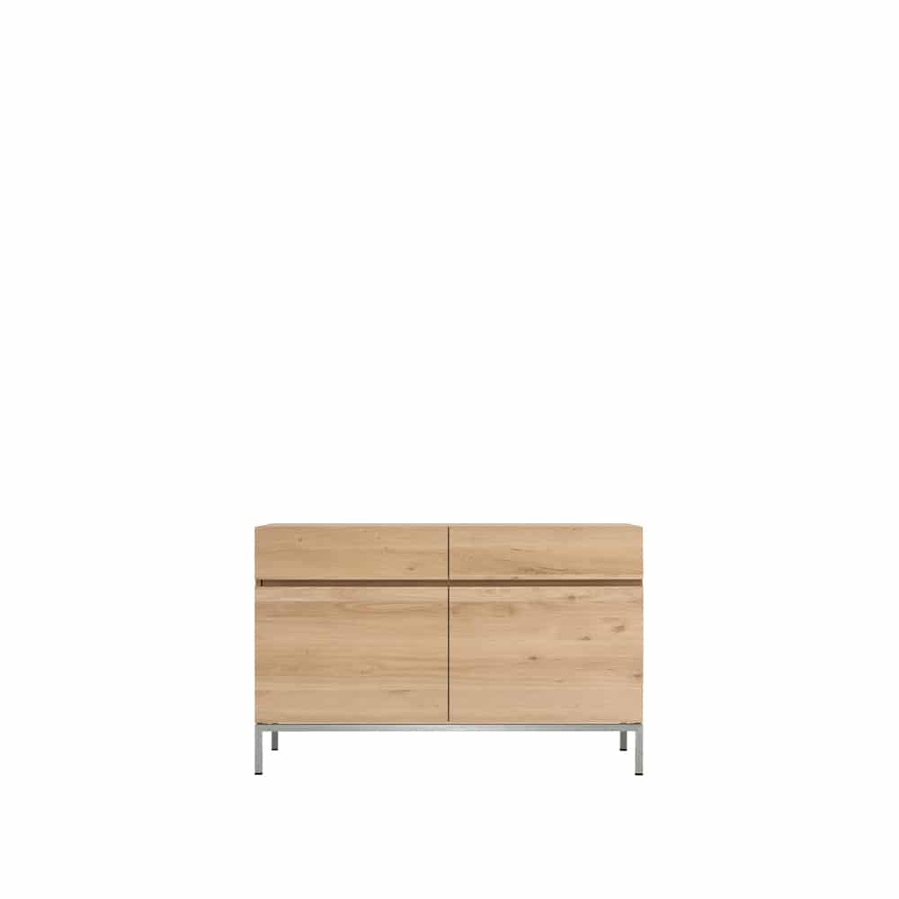 TGE 050949 Oak Ligna sideboard 2 opening doors 2 drawers 110x45x78