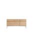 TGE 050950 Oak Ligna sideboard 3 opening doors 3 drawers 165x45x78