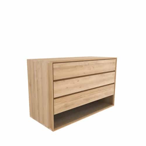 TGE 051176 Oak Nordic chest of drawers 3 drawers 130x56x83 p