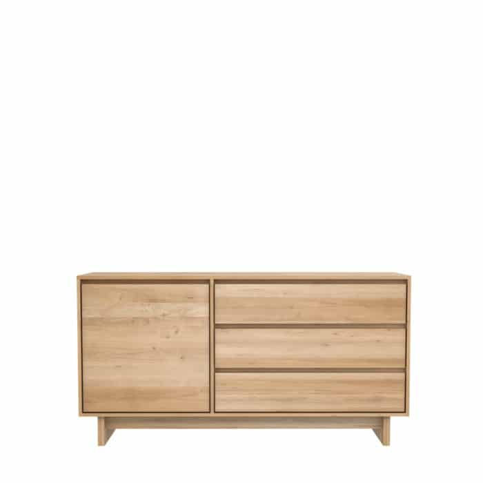 TGE 051450 Oak Wave sideboard 1 opening door 3 drawers 148x46x77 f