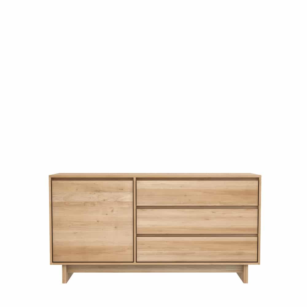 TGE 051450 Oak Wave sideboard 1 opening door 3 drawers 148x46x77 f