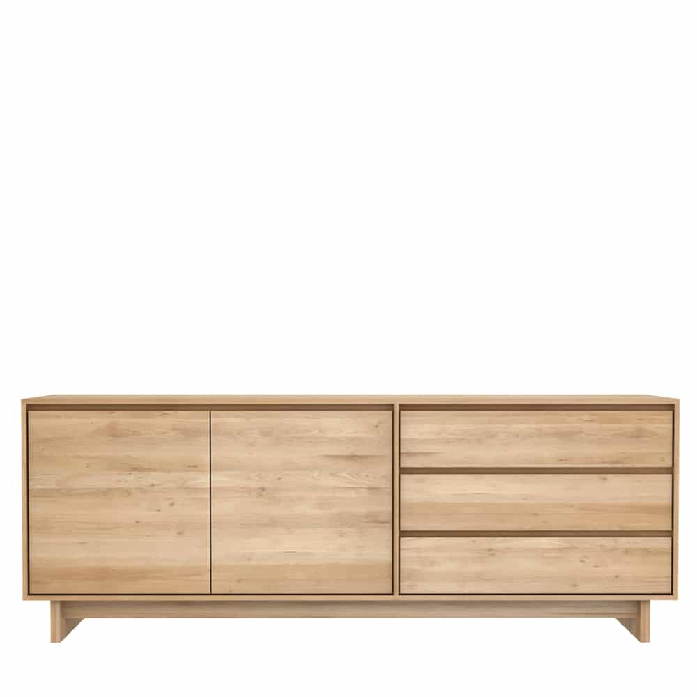 TGE 051451 Oak Wave sideboard 2 opening doors 3 drawers 205x46x77 f