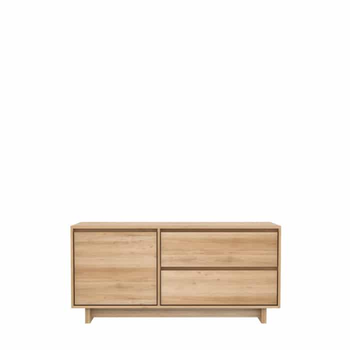 TGE 051452 Oak Wave TV cupboard 127x46x60 f