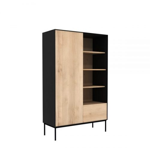 TGE 051470 Oak Blackbird storage cupboard 1 opening door 1 drawer 110x45x178 p rev 600x600