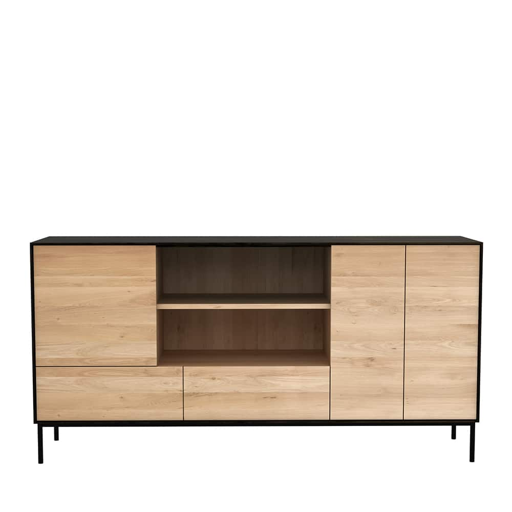 TGE 051472 Oak Blackbird sideboard 3 doors 2 drawers 180x45x90 f