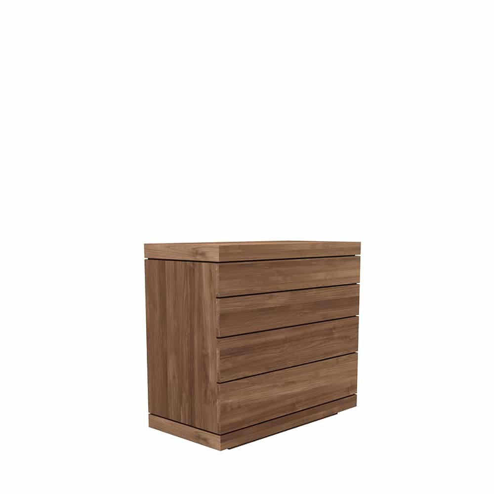 TGE 15327 Teak Burger chest of drawers 4 drawers 100X50X90 p