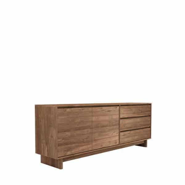 TGE C11451 Teak Wave sideboard 2 opening doors 3 drawers 205x46x77 p 600x600