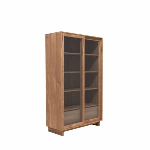 TGE C11455 Teak Wave bookrack 2 sliding doors 2 drawers 110x46x183 p  600x600