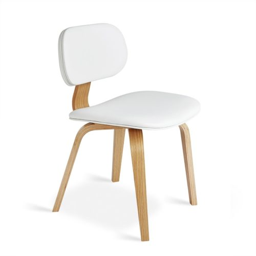 Thompson Chair   Natural Oak Vinyl Snow   P01