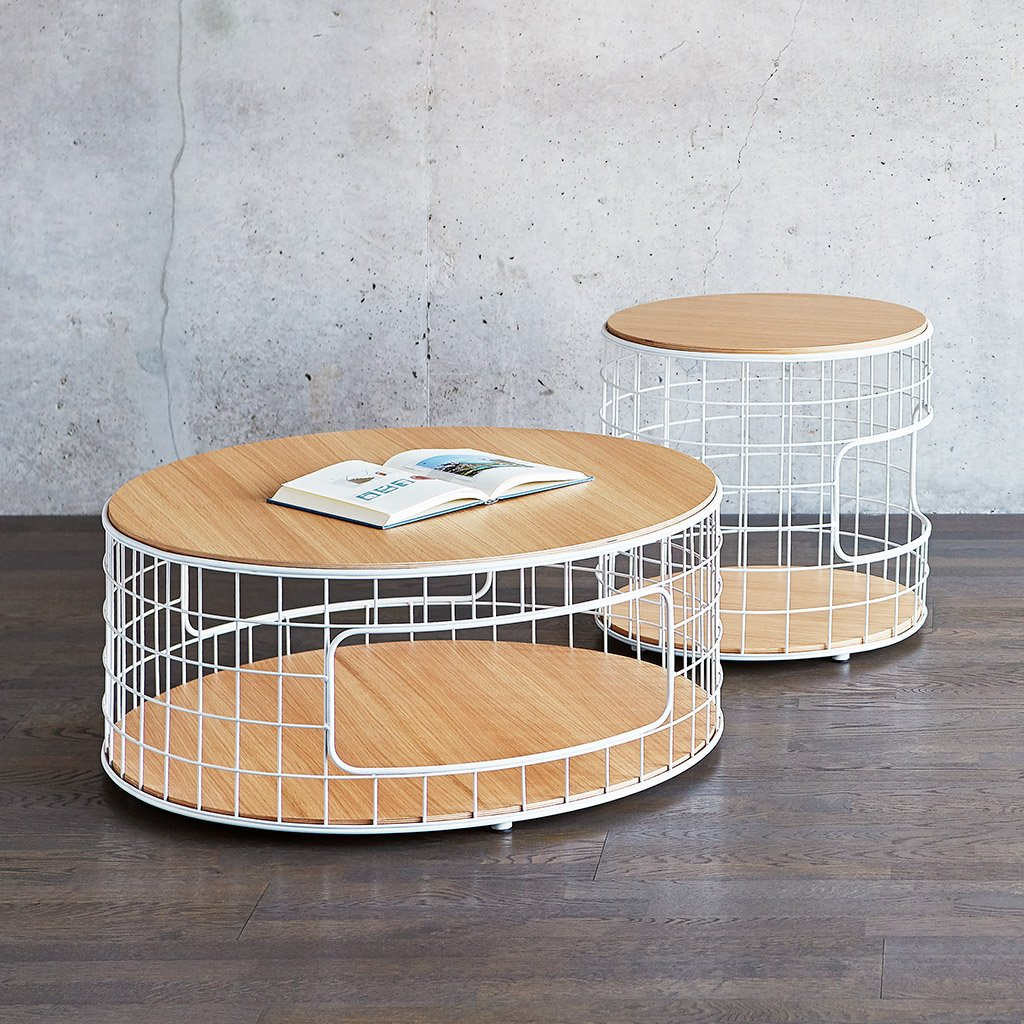 Wireframe Coffee Table End Table   White Natural Oak   L01 1024x1024 1