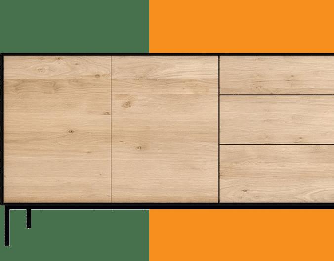 Dresser orange background