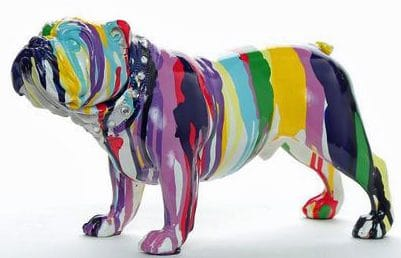 Multicolor Bulldog Decoration