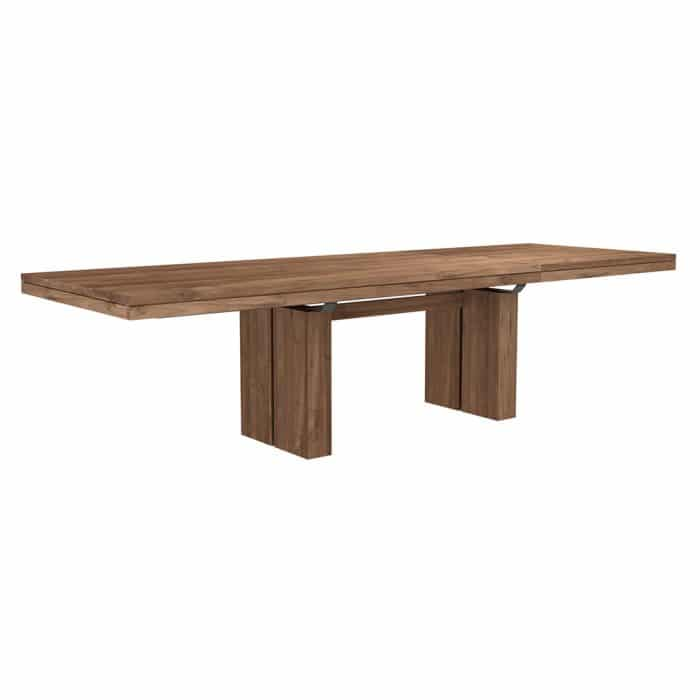 double extendable dining table teak 2