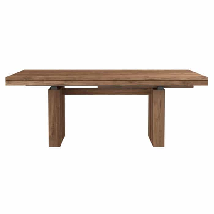 double extendable dining table teak 3