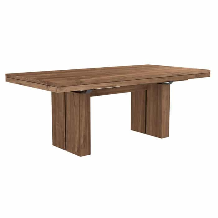 double extendable dining table teak 4