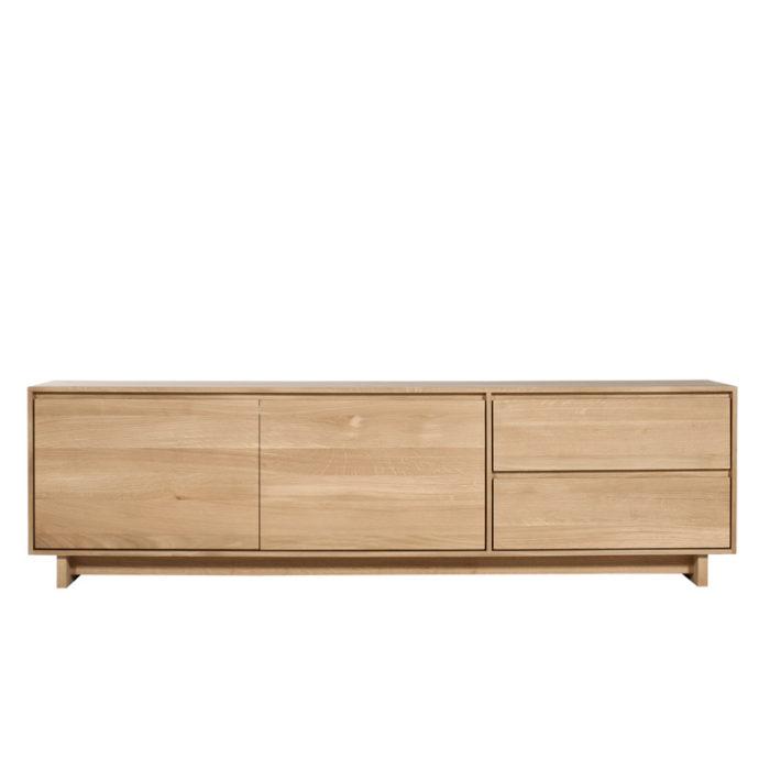 ec 51453 oak wave tv cupboard 2 doors a 1